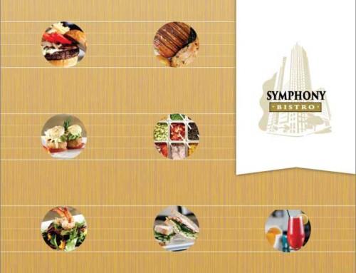 Symphony Bistro – Restaurant logo, menus, and signage