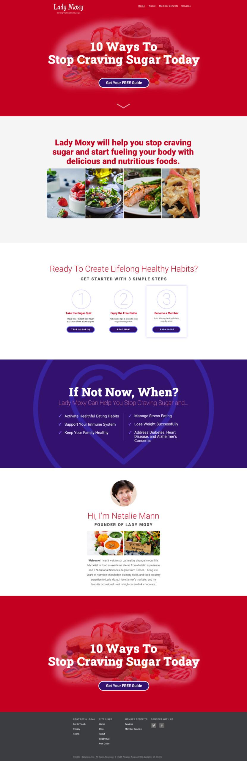 ladymoxy wordpress website design